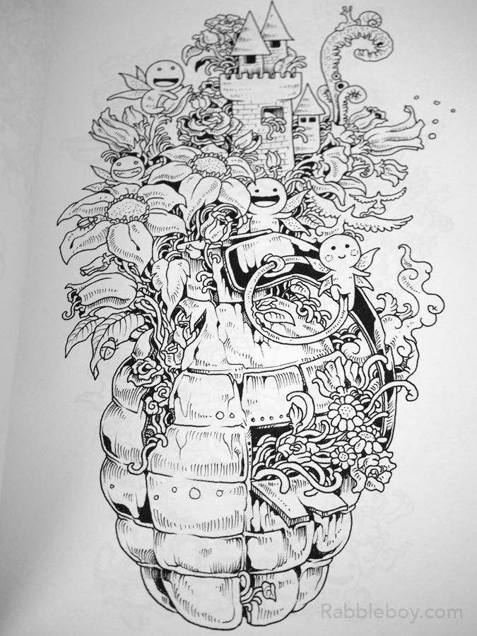 Doodle Invasion A Crazy Coloring Book By Kerby Rosanes RABBLEBOY The Official Site Of